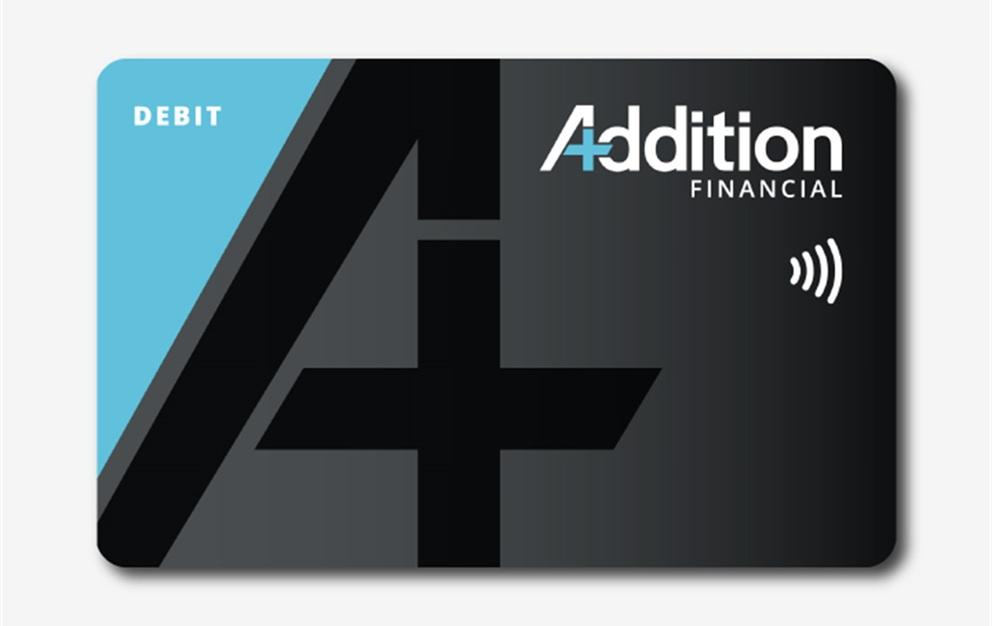 Addition Financial contactless debit card