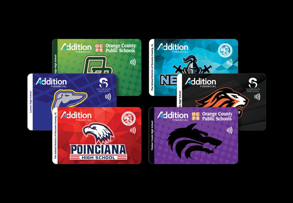 School spirit debit cards