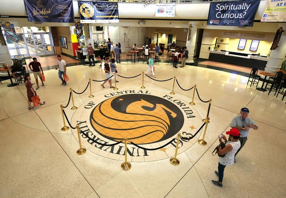 Students and parents walking through the UCF Student Union